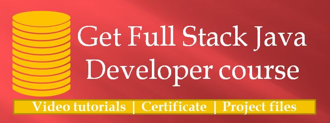 Full stack Java Developer